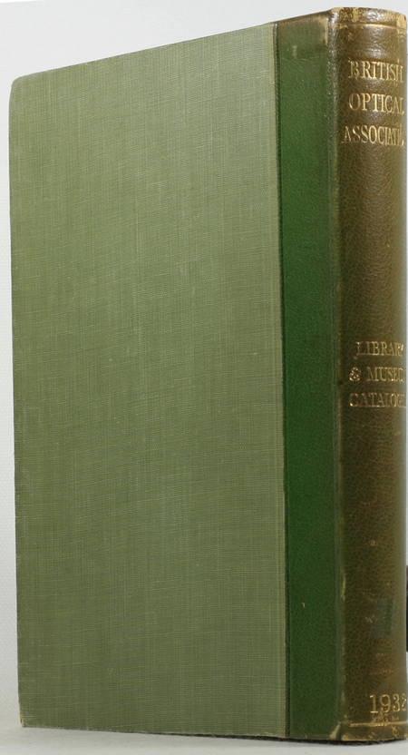 British Optical Association - Library and museum 1932 - Catalogue - 75 planches - Photo 1 - livre du XXe siècle
