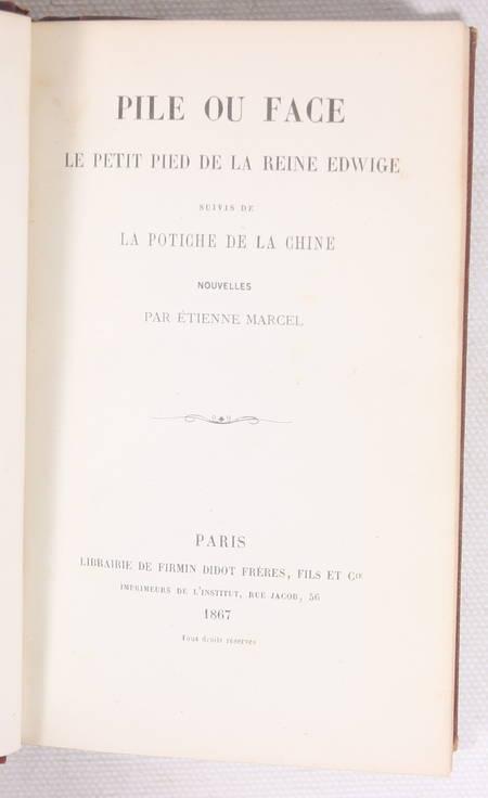 Etienne MARCEL Pile ou face, et autres nouvelles - 1867 - Photo 1 - livre du XIXe siècle