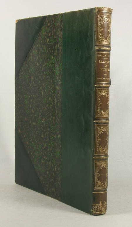 DIDRON Aîné. Manuel des oeuvres de bronze et d'orfèvrerie du Moyen-Age, livre rare du XIXe siècle