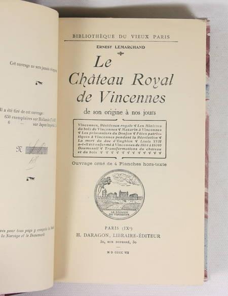LEMARCHAND (Ernest) - Le château royal de Vincennes - 1907 - Relié - Photo 1 - livre moderne