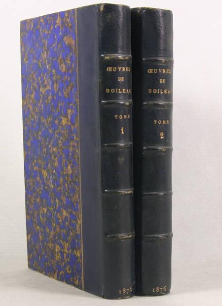 BOILEAU (N.). Oeuvres de N. Boileau. Suivies d'oeuvres en prose publiées avec des notes et variantes par P. Chéron