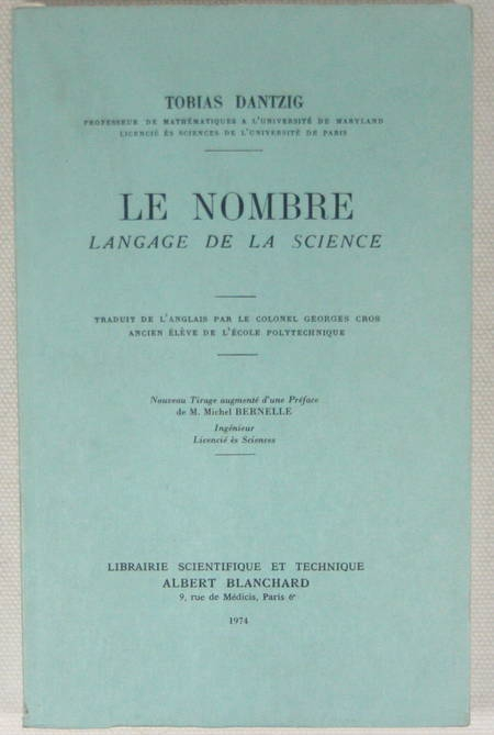 DANTZIG - Le nombre. Langage de la science - Blanchard - 1974 - Photo 0 - livre de collection
