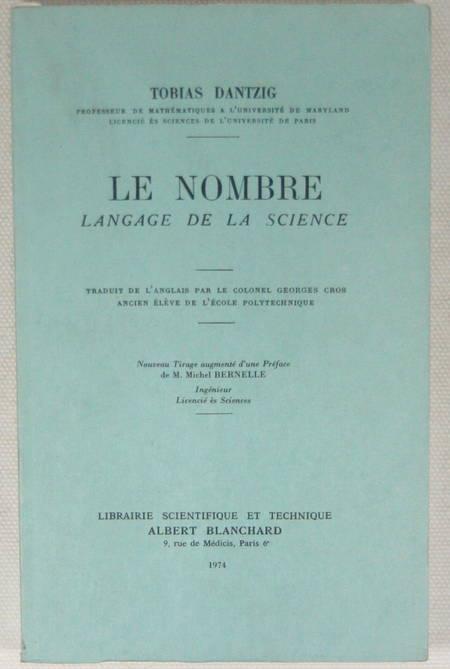 DANTZIG - Le nombre. Langage de la science - Blanchard - 1974 - Photo 0 - livre rare