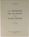 NEWTON (Isaac). La méthode des fluxions et des suites infinies. Traduit par M. de Buffon