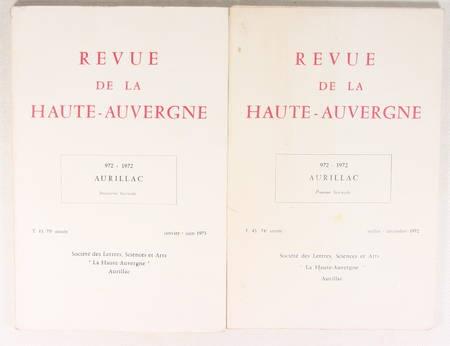[Cantal] Aurillac 972-1972 - Haute Auvergne - Photo 0 - livre du XXe siècle