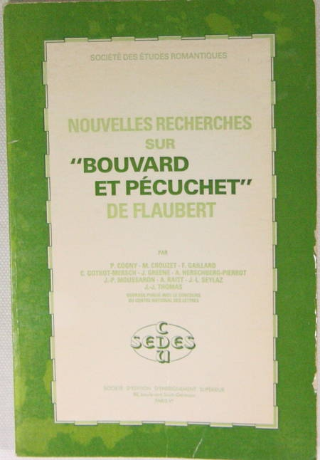 """COGNY - Nouvelles recherches sur """"Bouvard et Pécuchet"""" de Flaubert - 1980 - Photo 0 - livre du XXe siècle"""
