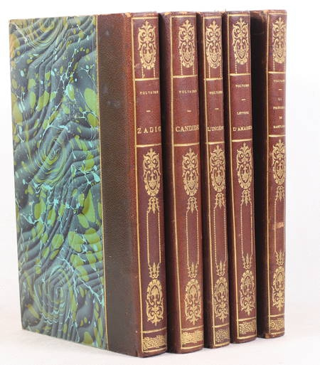 VOLTAIRE - Romans de Voltaire - 1878 - Eaux-fortes de Laguillermie - 5 volumes - Photo 0 - livre du XIXe siècle