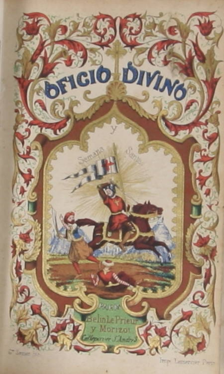Officio divino en latin y Castellano - (1864) - Chromolithographies - Photo 0 - livre de bibliophilie