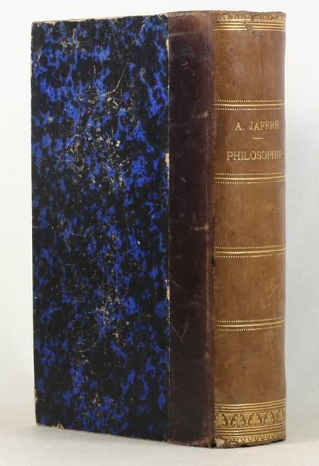 JAFFRE (P. F.-A.). Cours de philosophie, adapté au nouveau programme du baccalauréat ès-lettres, livre rare du XIXe siècle