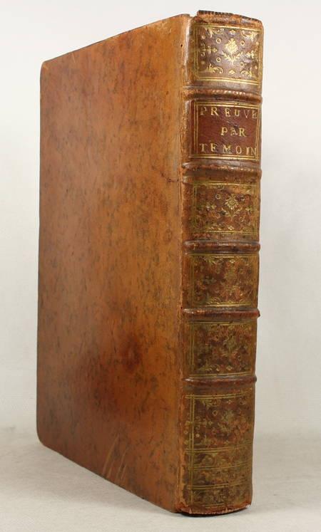 [Droit] DANTY - Traité de la preuve par preuve témoins - 1769 Provenance - Photo 0 - livre ancien