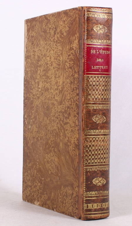 LAURENTIE (M.). De l'étude de l'enseignement des lettres, livre rare du XIXe siècle