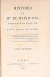 LAFONT - Histoire de Madame de Maintenon fondatrice de Saint-Cyr - 1814 - Photo 2, livre ancien du XIXe siècle