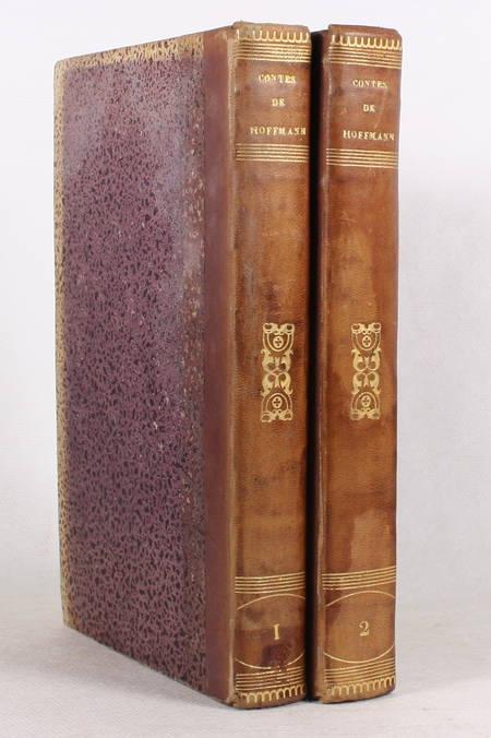 HOFFMANN - Contes - 1838 - 2 volumes reliés - Figures - Photo 1 - livre romantique
