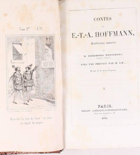 HOFFMANN - Contes - 1838 - 2 volumes reliés - Figures - Photo 2 - livre romantique