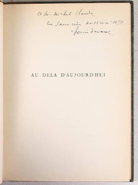 DAVOUST - Au-delà d'aujourd'hui. Poëme optimiste - 1937 - Envoi - Photo 0 - livre du XXe siècle