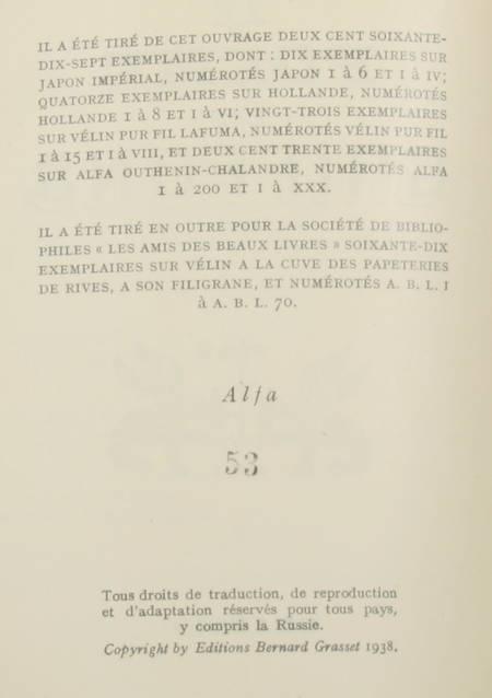 DEREME (Tristan). Le poème des griffons, livre rare du XXe siècle