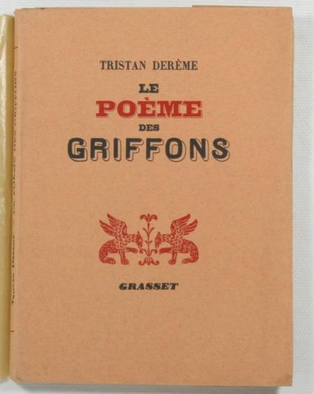 DEREME - Le poème des griffons - 1938 - 1/230 Alfa -EO - Photo 1, livre rare du XXe siècle