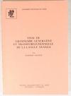 MATEENE (Kahombo). Essai de grammaire générative et transformationelle de la langue Nyanga