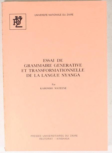 MATEENE (Kahombo). Essai de grammaire générative et transformationelle de la langue Nyanga, livre rare du XXe siècle