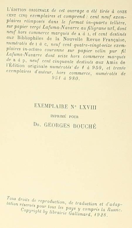 CONRAD - Le frère-de-la-côte - 1928 - 1/109 In-4 tellière - EO - Photo 0 - livre du XXe siècle