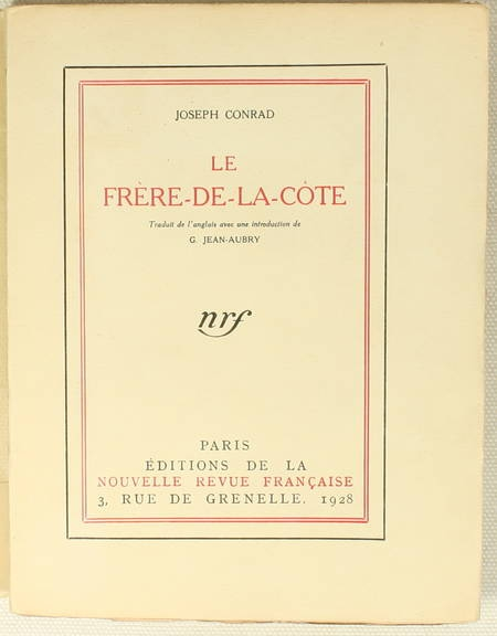 CONRAD - Le frère-de-la-côte - 1928 - 1/109 In-4 tellière - EO - Photo 1 - livre d'occasion