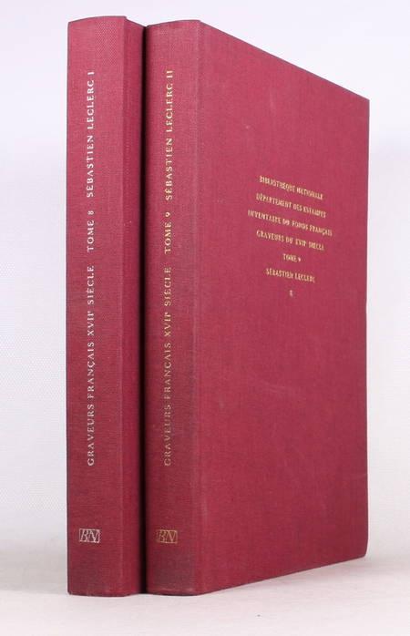 PREAUD (Maxime). Inventaire du fonds français. Graveurs du XVIIe siècle. Sébastien Leclerc