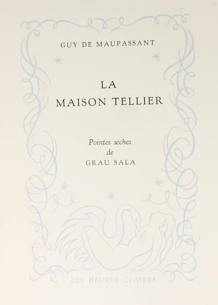 MAUPASSANT - La maison Tellier - 1951 - Pointes sèches de Grau Sala - Photo 3 - livre rare