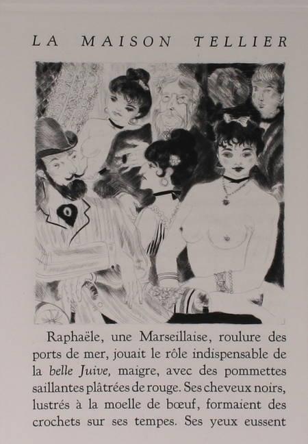 MAUPASSANT - La maison Tellier - 1951 - Pointes sèches de Grau Sala - Photo 4, livre rare du XXe siècle