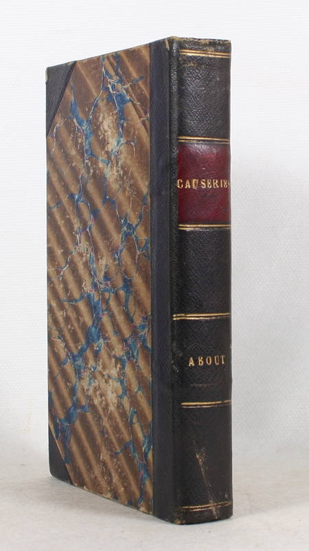 Edmond ABOUT - Causeries - Hachette, 1865 - Relié - Photo 0 - livre rare