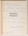 PIOT (André) - Mémoires poétiques - 1963 - Envoi de l auteur - Photo 0, livre rare du XXe siècle