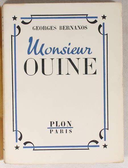 BERNANOS (Georges) - Monsieur Ouine - 1946 - Frontispice de Pierre Collot - Photo 1, livre rare du XXe siècle