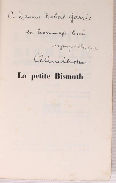 LHOTTE (Céline). La petite Bismuth