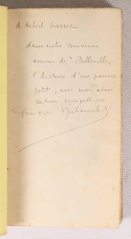 DUHAMELET (Geneviève). L'espace d'un matin, livre rare du XXe siècle