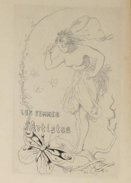 DAUDET (Alphonse). Les femmes d'artistes, livre rare du XIXe siècle