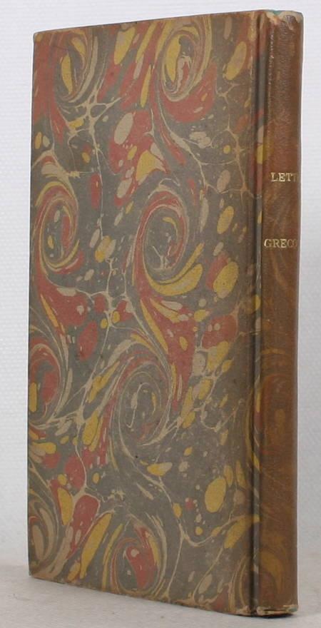 ALCIPHRON et ROUVILLE (Stéphane de, traducteur). Lettres grecques du rhéteur Alciphron, traduites en français par Stéphane de Rouville