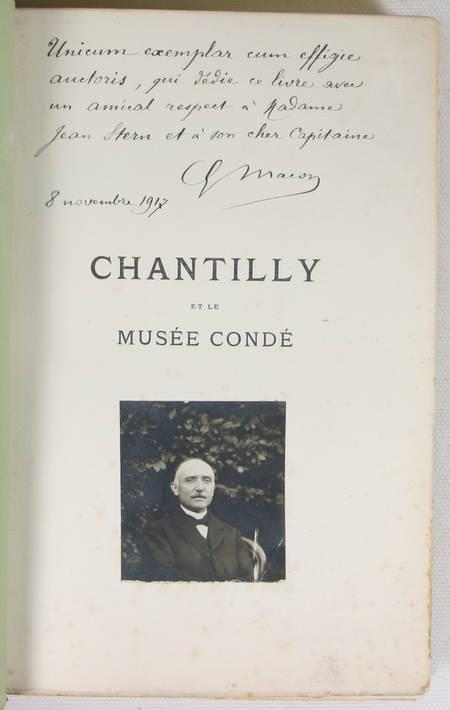 MACON (Gustave). Chantilly et le musée Condé, livre rare du XXe siècle