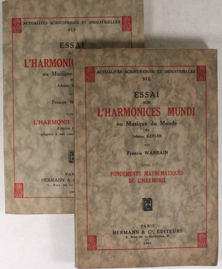 WARRAIN - Essai sur l Harmonices Mundi ou musique du monde de Johann Kepler 1942 - Photo 1 - livre de bibliophilie