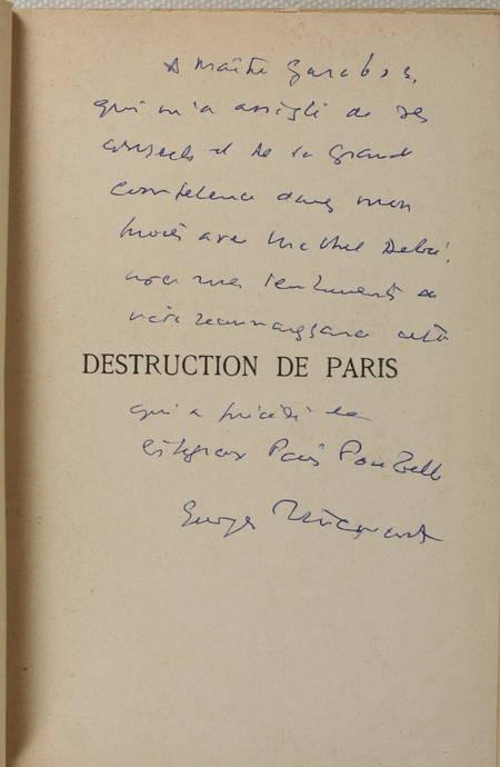 [Paris] PILLEMENT - Destruction de Paris - 1941 - Photo 0 - livre rare
