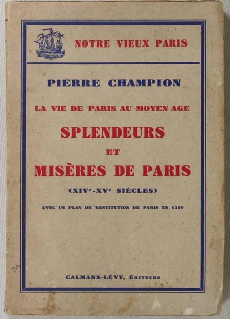 [Paris] CHAMPION - Splendeurs et misères de Paris (14e-15e) 1934 - Plan - Envoi - Photo 1 - livre d'occasion