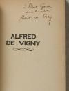 [Littérature] DE TRAZ - Alfred de Vigny - 1928 - Envoi - Photo 0, livre rare du XXe siècle