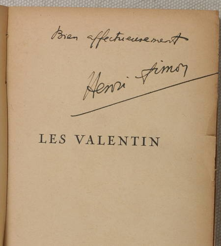 HENRI-SIMON (Pierre). Les Valentin