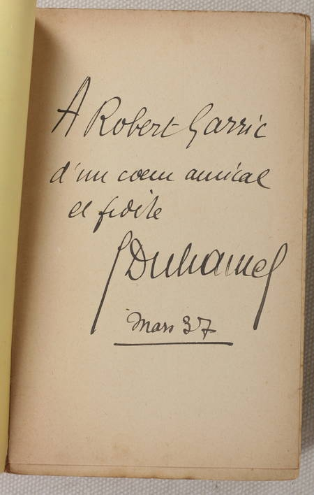 DUHAMEL (Georges). Chronique des Pasquier. Le Désert de Bièvres, livre rare du XXe siècle