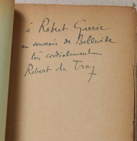 DE TRAZ (Robert). L'écorché. Roman, livre rare du XXe siècle