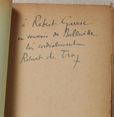 DE TRAZ (Robert). L'écorché. Roman