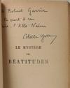Colette YVER - Le mystère des Béatitudes - 1924 - Envoi - Photo 0, livre rare du XXe siècle
