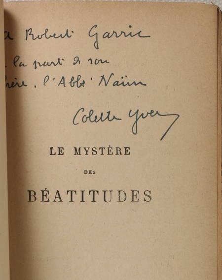 YVER (Colette). Le mystère des Béatitudes. Roman, livre rare du XXe siècle
