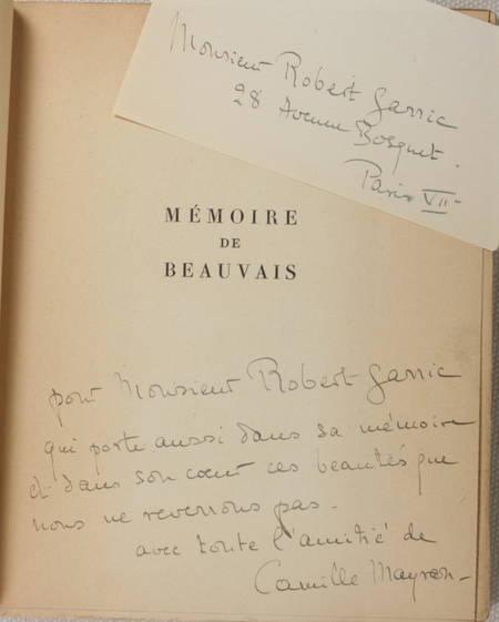 MAYRAN (Camille). Mémoire de Beauvais