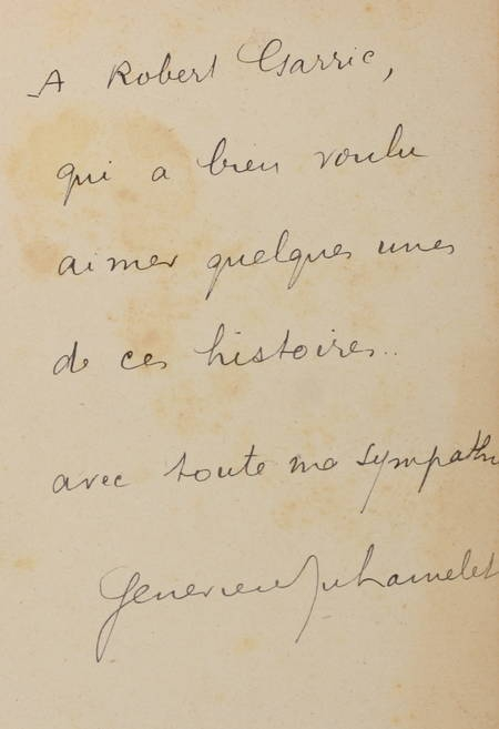 DUHAMELET (Geneviève). Ces gens-là, livre rare du XXe siècle