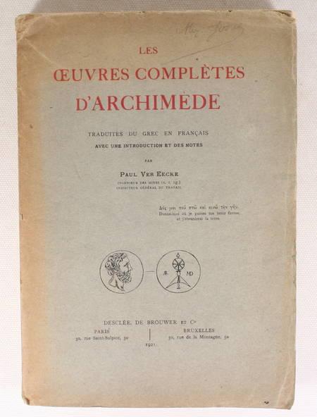 [Mathématiques] Les oeuvres complètes d'ARCHIMEDE - 1921- figures - Photo 1 - livre de bibliophilie