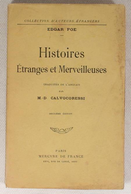 POE (Edgar). Histoires étranges et merveilleuses, livre rare du XXe siècle